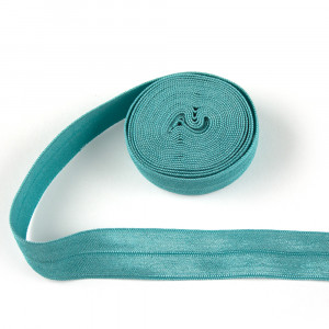 """byAnnie Fold-over Nylon Elastic 20mm (3/4"""") wide Turquoise"""