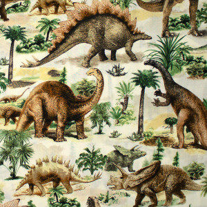 All Over Dinosaurs Multi by Timeless Treasures