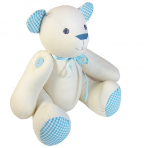 Funky Friends Factory Calico Signature Bear Blue Soft Toy Making Kit