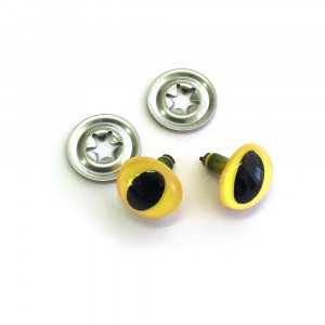 "Toy Eyes Cat - 12mm (1/2"") Yellow - 10pk (5 Pairs)"