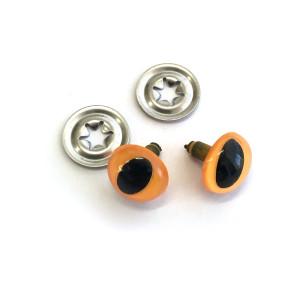 """Toy Eyes Cat - 12mm (1/2"""") Dark Yellow - 10pk (5 Pairs)"""