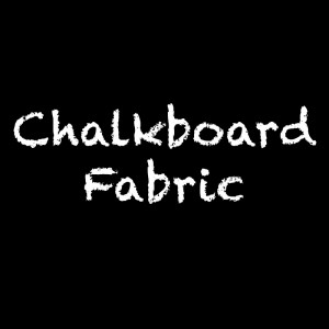 Chalkboard Fabric Black by Camelot Fabrics