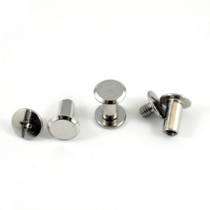 """Emmaline Bags Chicago Screws Large 10mm x 10mm (3/8"""" x 3/8"""") in Silver - 50pk"""