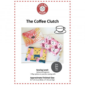 The Coffee Clutch Sewing Pattern by Little Moo Designs