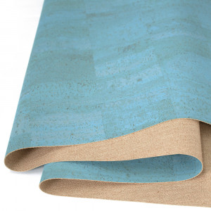 """Portuguese Surface Cork Ocean Blue - Sizing from 70cm x 50cm (27-1/2"""" x 19-1/2"""")"""