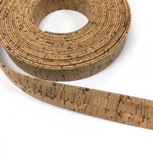 "Portuguese Pre-made Cork Strapping 25mm (1"") Wide Natural"