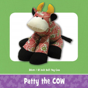 Patty Cow Soft Toy Pattern by Funky Friends Factory
