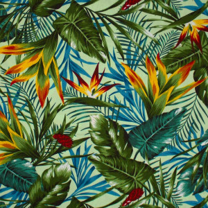 Hawaiian Leaves Mint by Cosmo Textiles