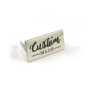 Emmaline Bags Metal Bag Label - Custom Made Silver