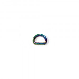 "Voodoo Bag Hardware D-Ring 12mm (1/2"") Iridescent Rainbow - 4 pk"