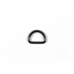 "Voodoo Bag Hardware D-Ring 20mm (3/4"") Gunmetal - 4 pk"