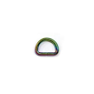 "Voodoo Bag Hardware D-Ring 20mm (3/4"") Iridescent Rainbow - 4 pk"