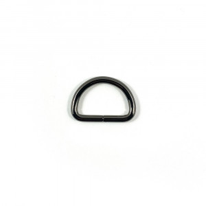 "Voodoo Bag Hardware D-Ring 25mm (1"") Gunmetal - 4 pk"