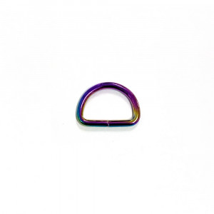 "Voodoo Bag Hardware D-Ring 25mm (1"") Iridescent Rainbow - 4 pk"
