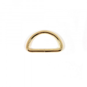 "Voodoo Bag Hardware D-Ring 40mm (1-1/2"") Gold - 4 pk"