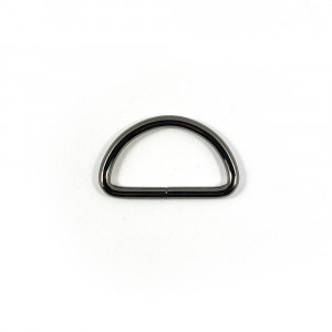 "Voodoo Bag Hardware D-Ring 40mm (1-1/2"") Gunmetal - 4 pk"