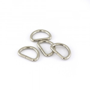 "Voodoo Bag Hardware D-Ring 20mm (3/4"") Silver - 4pk"