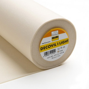 Vilene Decovil 1 LIGHT WEIGHT Beige Non-woven Fusible Interfacing