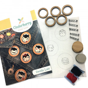 Devils Lair Brooch Embroidery Kit by Cinderberry