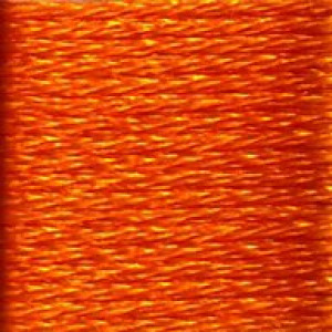 DMC Satin S741 Orange Zest Embroidery Floss