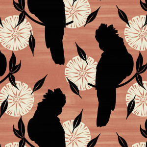 Orenda Joy Green Collection 2 Cockatoo Silhouettes by Devonstone Collection