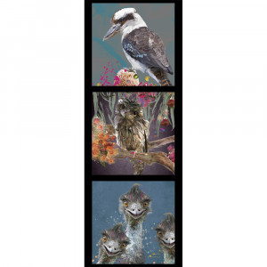 Karen Roberts Collection 3 Emu 40cm Tri Fabric Panel by Devonstone Collection