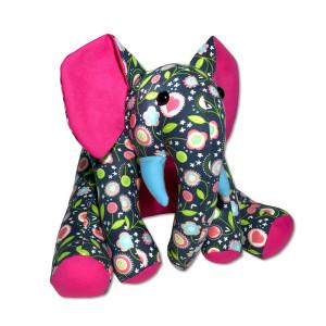 Funky Friends Factory Ellie Elephant Navy Soft Toy Making Kit