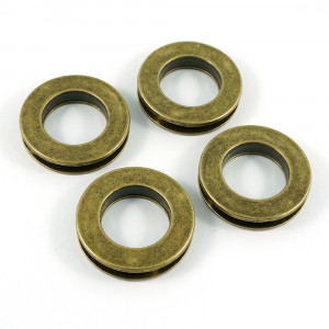 "Emmaline Bags Screw Together Grommets 20mm (3/4"") Round in Antique Brass - 4pk"