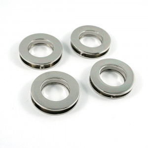 "Emmaline Bags Screw Together Grommets 20mm (3/4"") Round in Silver Nickel - 4pk"