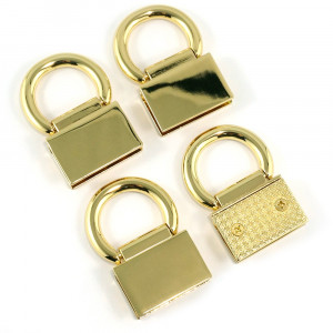 Emmaline Bags Strap Anchor Edge Connector Gold (4 pack)