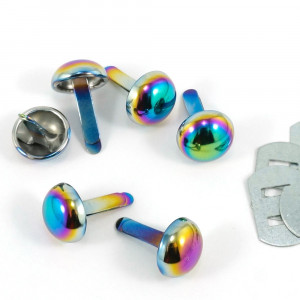 "Emmaline Bags Small Domed Purse Feet 12mm (1/2"") Iridescent Rainbow - 6pk"