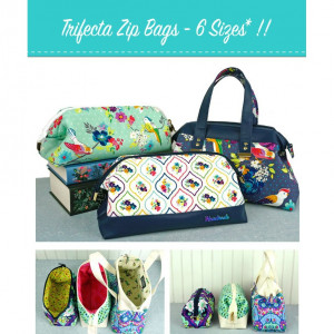 The Trifecta Zip Bags Sewing Pattern by Emmaline Bags