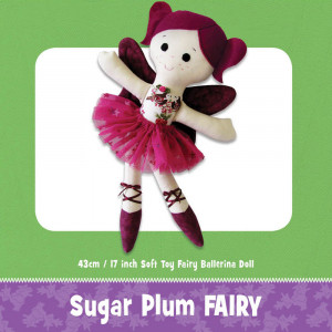 Sugar Plum Fairy Soft Toy Pattern by Funky Friends Factory