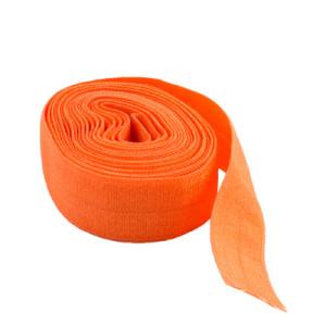 "byAnnie Fold-over Nylon elastic 20mm (3/4"") wide Pumpkin Orange"