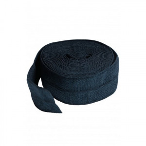 "byAnnie Fold-over Nylon elastic 20mm (3/4"") wide Navy Blue"