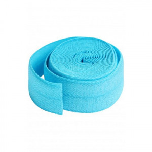"""byAnnie Fold-over Nylon elastic 20mm (3/4"""") wide Parrot Blue"""