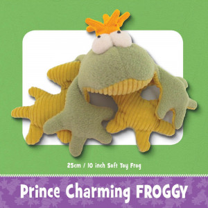 Frog Prince Charming Soft Toy Pattern by Funky Friends Factory