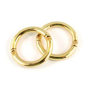 "Emmaline Bags Gate O-Ring Gold 25mm (1"") - 2pk"
