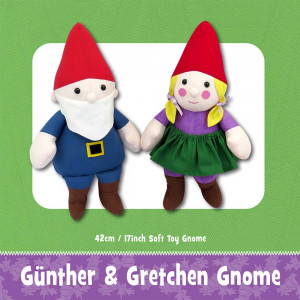 Günther & Gretchen Gnome Soft Toy Sewing Pattern by Funky Friends Factory