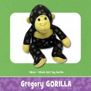 Gregory Gorilla Soft Toy Sewing Pattern by Funky Friends Factory