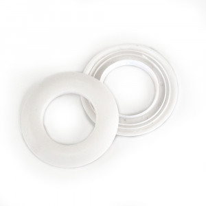 "Voodoo Bag Hardware Plastic Snap Together Grommet 48mm (2"") White"