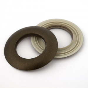 """Voodoo Bag Hardware Plastic Snap Together Grommet 25mm (1"""") Antique Brass"""