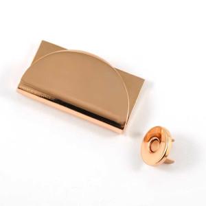 Emmaline Bags Half Moon Magnetic Clasp Copper