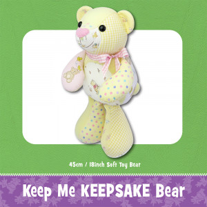 Keep Me Keepsake Bear Soft Toy Sewing Pattern by Funky Friends Factory
