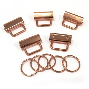 "Voodoo Bag Hardware Key Fob Hardware 31mm (1-1/4"") Copper - 5pk"