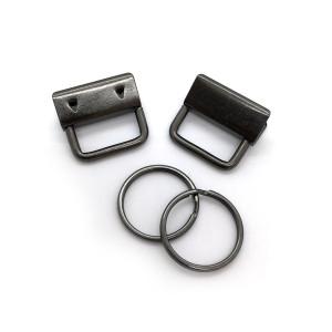 """Voodoo Bag Hardware Key Fob Hardware 25mm (1"""") Gunmetal - 5pk"""