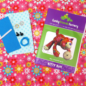 Funky Friends Factory Kitty Kate Pink Toy Making Kit