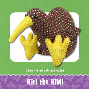 Kiri Kiwi Bird Soft Toy Sewing Pattern by Funky Friends Factory