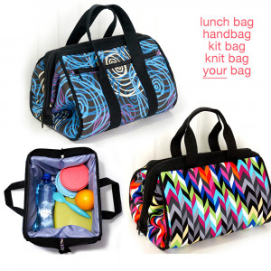 The Luxie Lunch Bag Sewing Pattern by Emmaline Bags