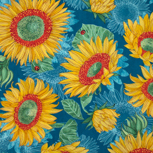 Solana Sunflowers Horizon Blue by Moda Fabrics